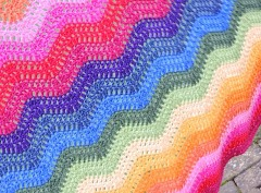 Rainbow Ripple Crochet