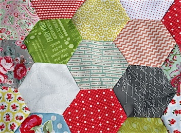 Machine Pieced Hexies