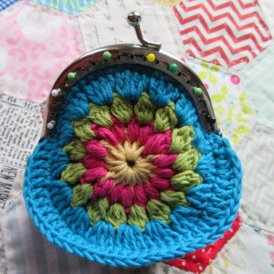 small crochet purse tute 9