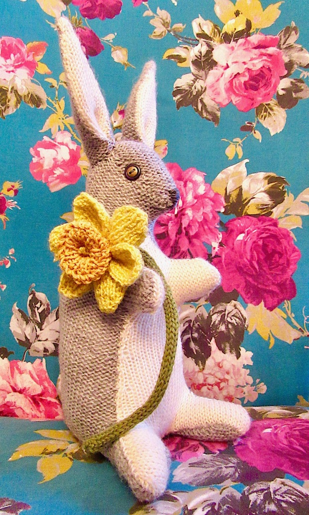 Knitted Daffodil Rainbow Hare